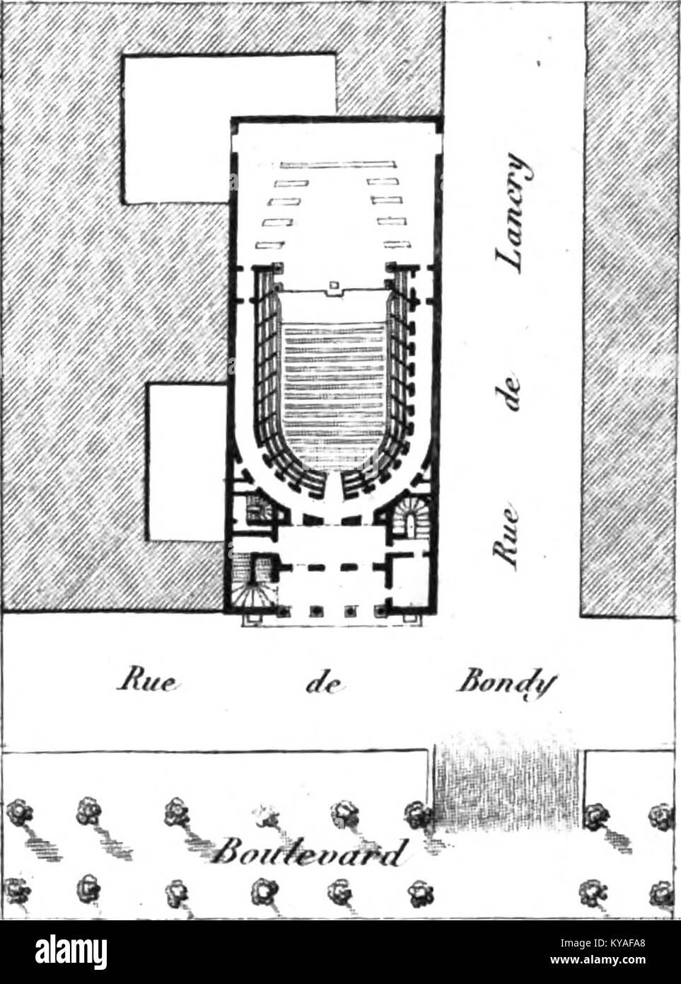 Théâtre des Jeunes Artistes - Kaufmann 1837 plate5 (plan) - Stock Image