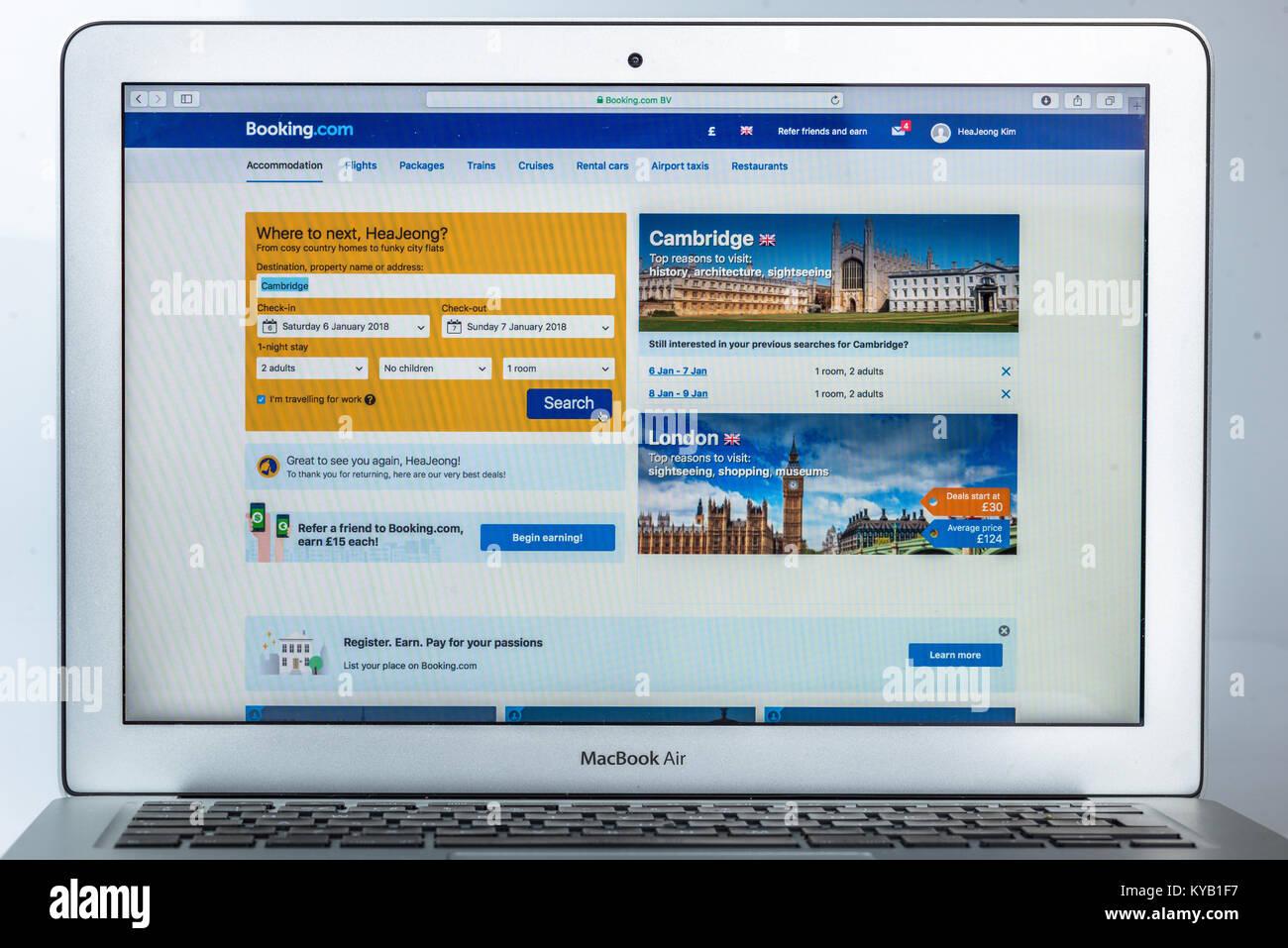 Booking.com website - Stock Image
