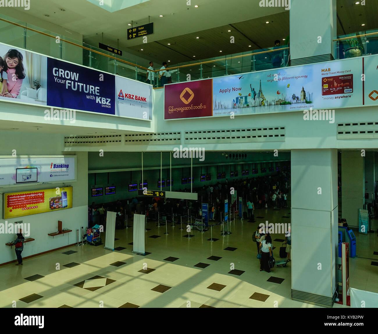 Yangon Myanmar Feb 27 2016 Departure Terminal Of Yangon Stock Photo Alamy