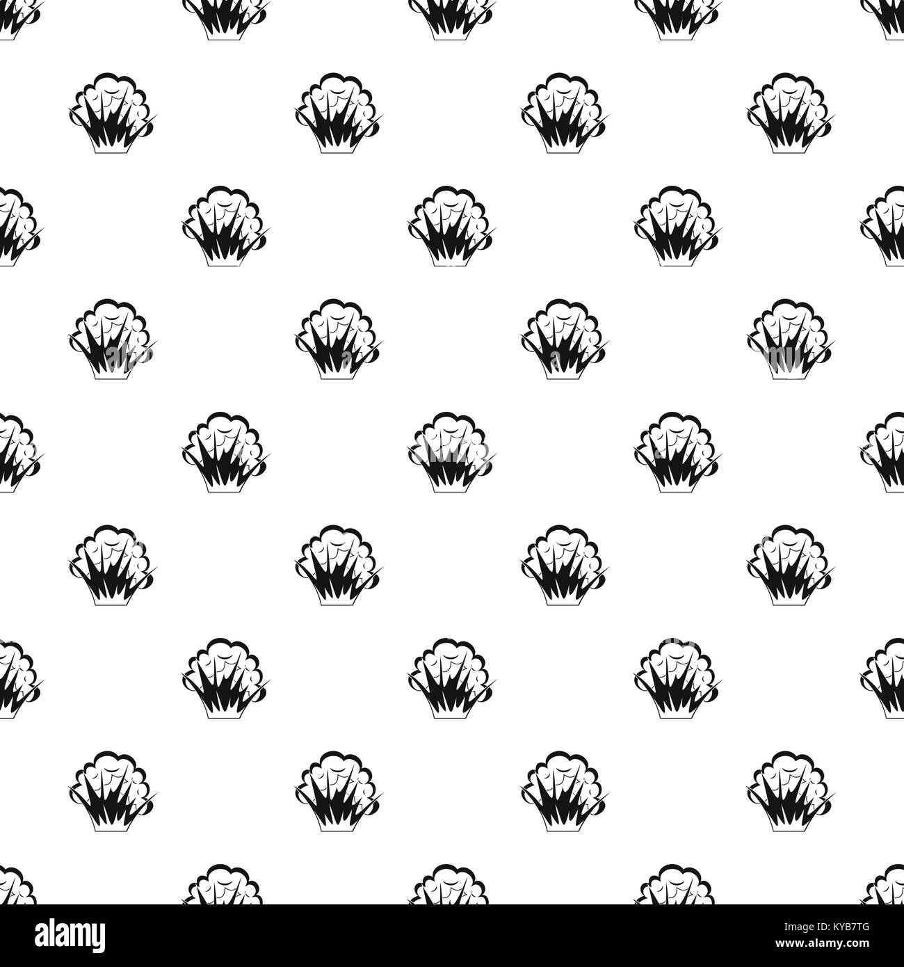 Nuclear explosion pattern vector - Stock Image