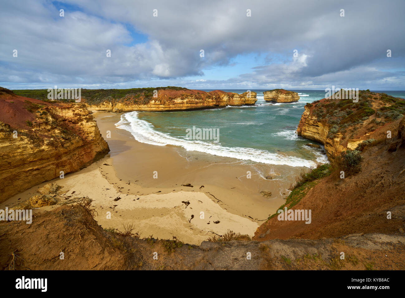 Along The Great Ocean Road Australia, Victoria, Australia. Stock Photo