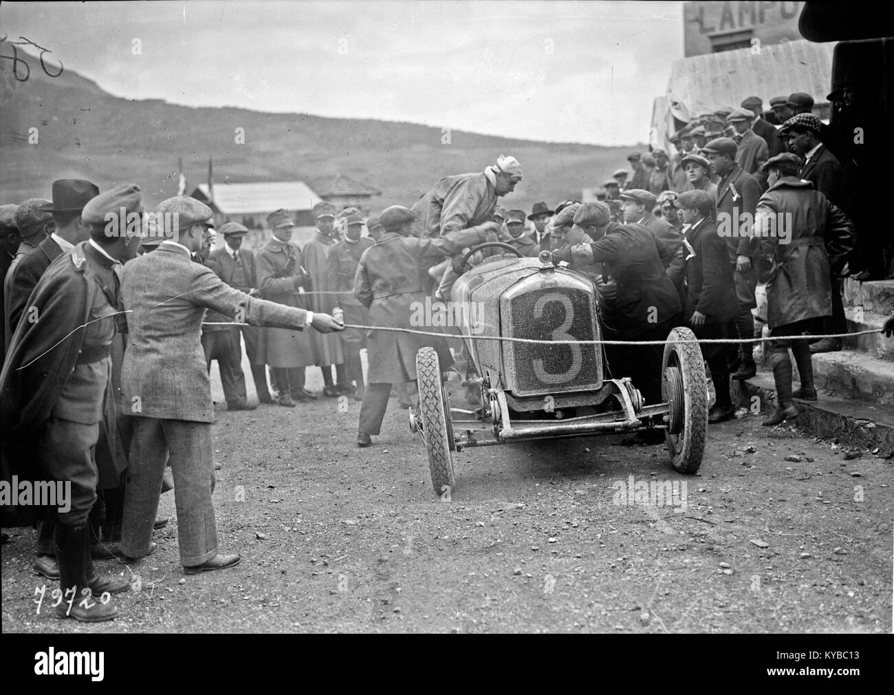 Maurice Béquet at the 1922 Coppa Florio (2) - Stock Image