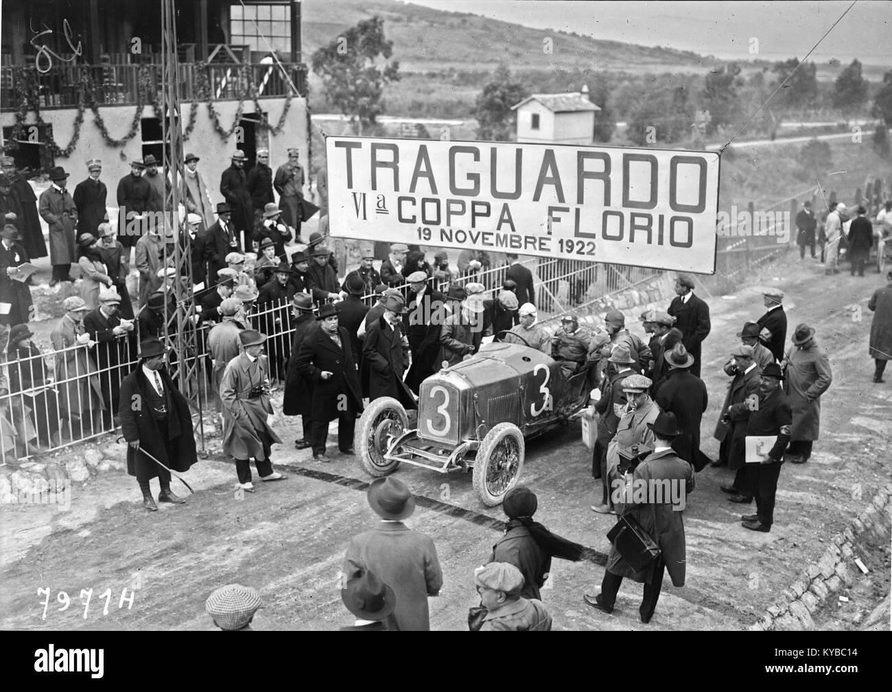 Maurice Béquet at the 1922 Coppa Florio (3) - Stock Image