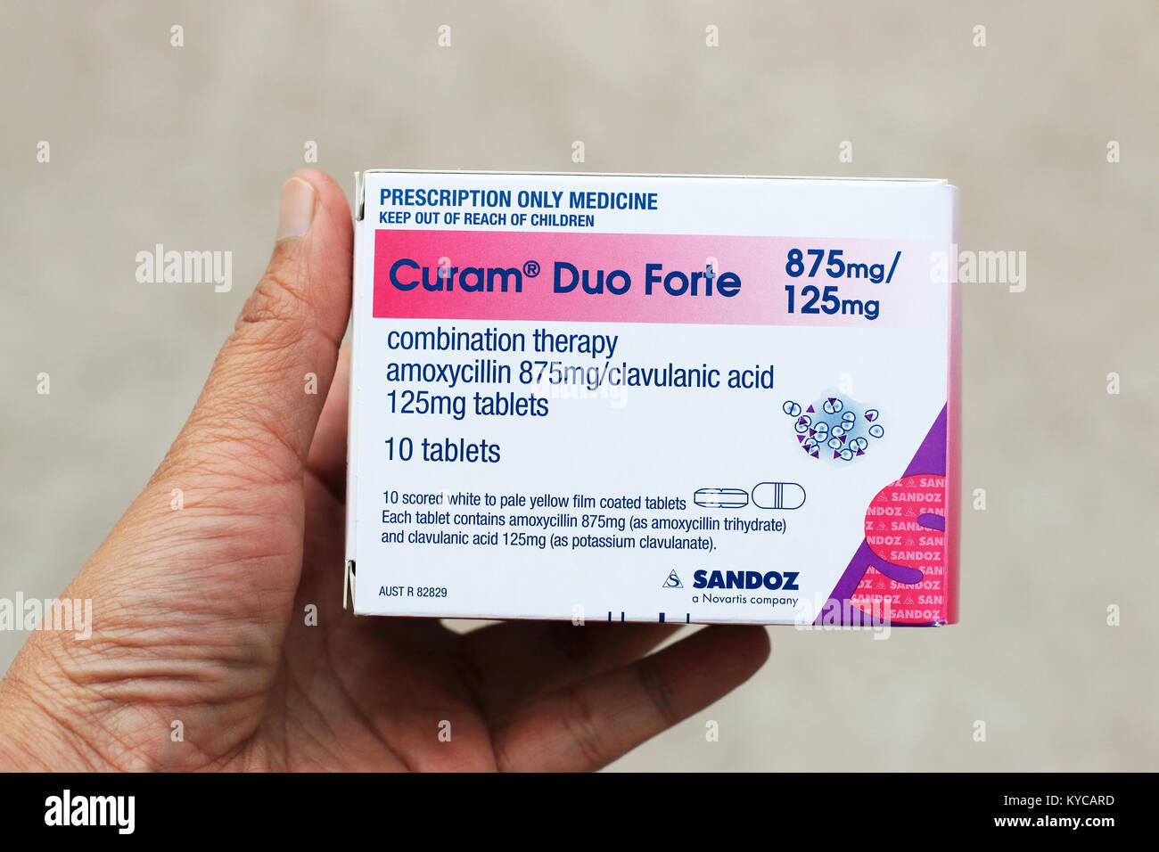 Curam Duo Forte isolated - Stock Image