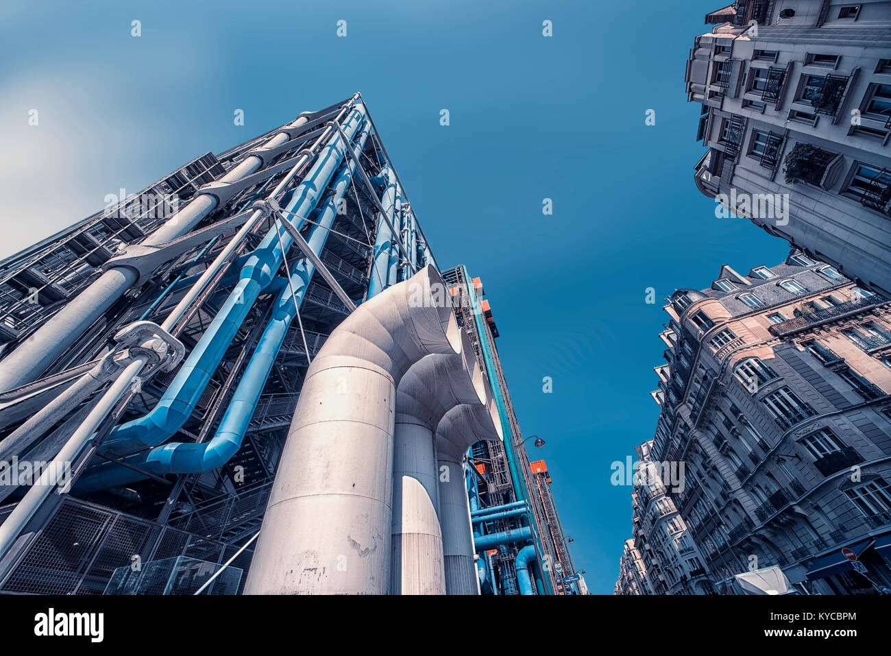 Centre Georges Pompidou in Paris - Stock Image