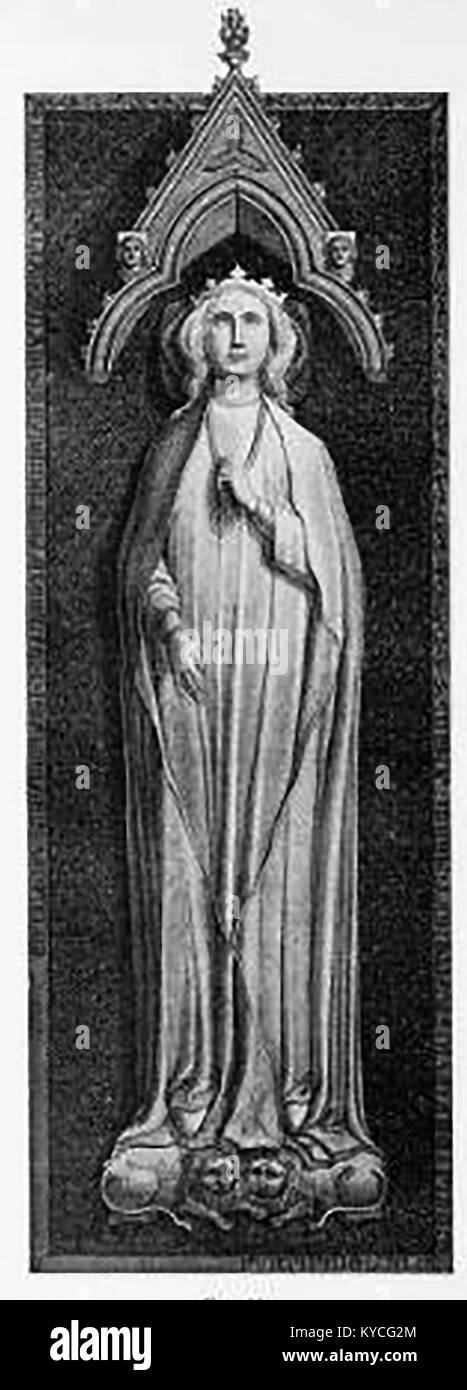 Queen Eleanor of Aquitaine - A 1914 drawing of the effigy in Westminster Abbey, London Stock Photo