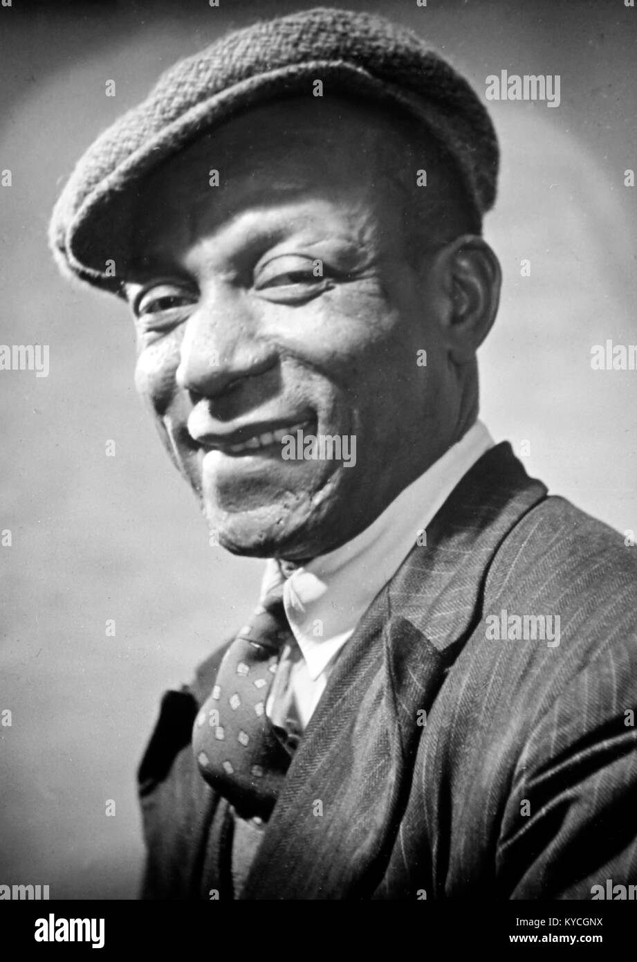 An immigrant from Trinidad, probably 1940s - Stock Image