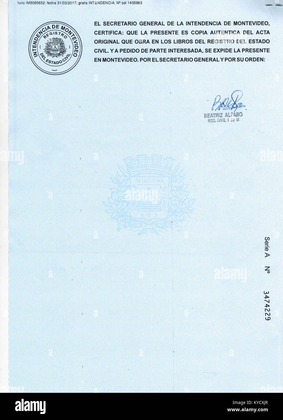Único Certificado De Nacimiento De Pedidos En Línea Ny Imagen - Cómo ...