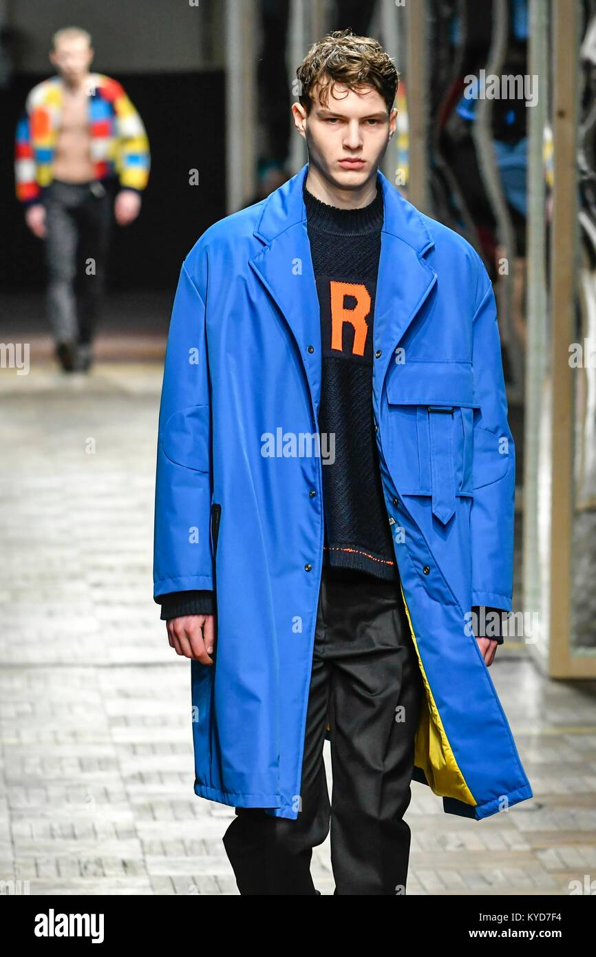 Milan Italy 14th Jan 2018 Milan Man S Fashion Week Autumn Winter