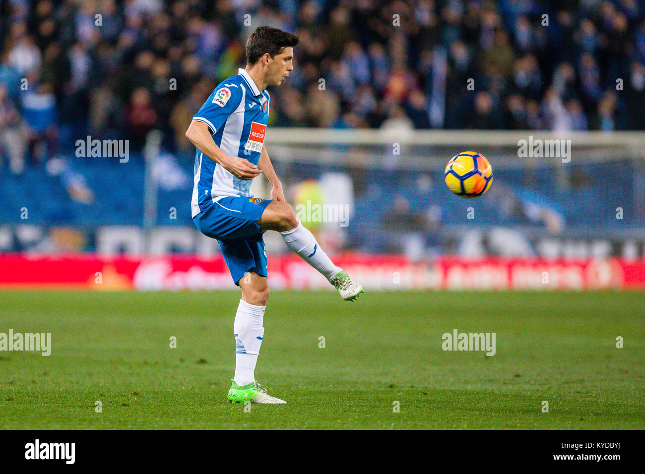 RCD Espanyol defender Javi Lopez (16) during the match between RCD Espanyol v Athletic Club, for the round 19 of - Stock Image