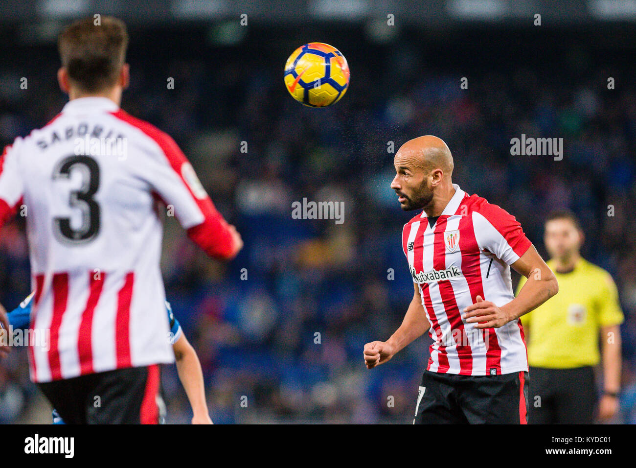 Athletic Club midfielder Mikel Rico (17) during the match between RCD Espanyol v Athletic Club, for the round 19 - Stock Image