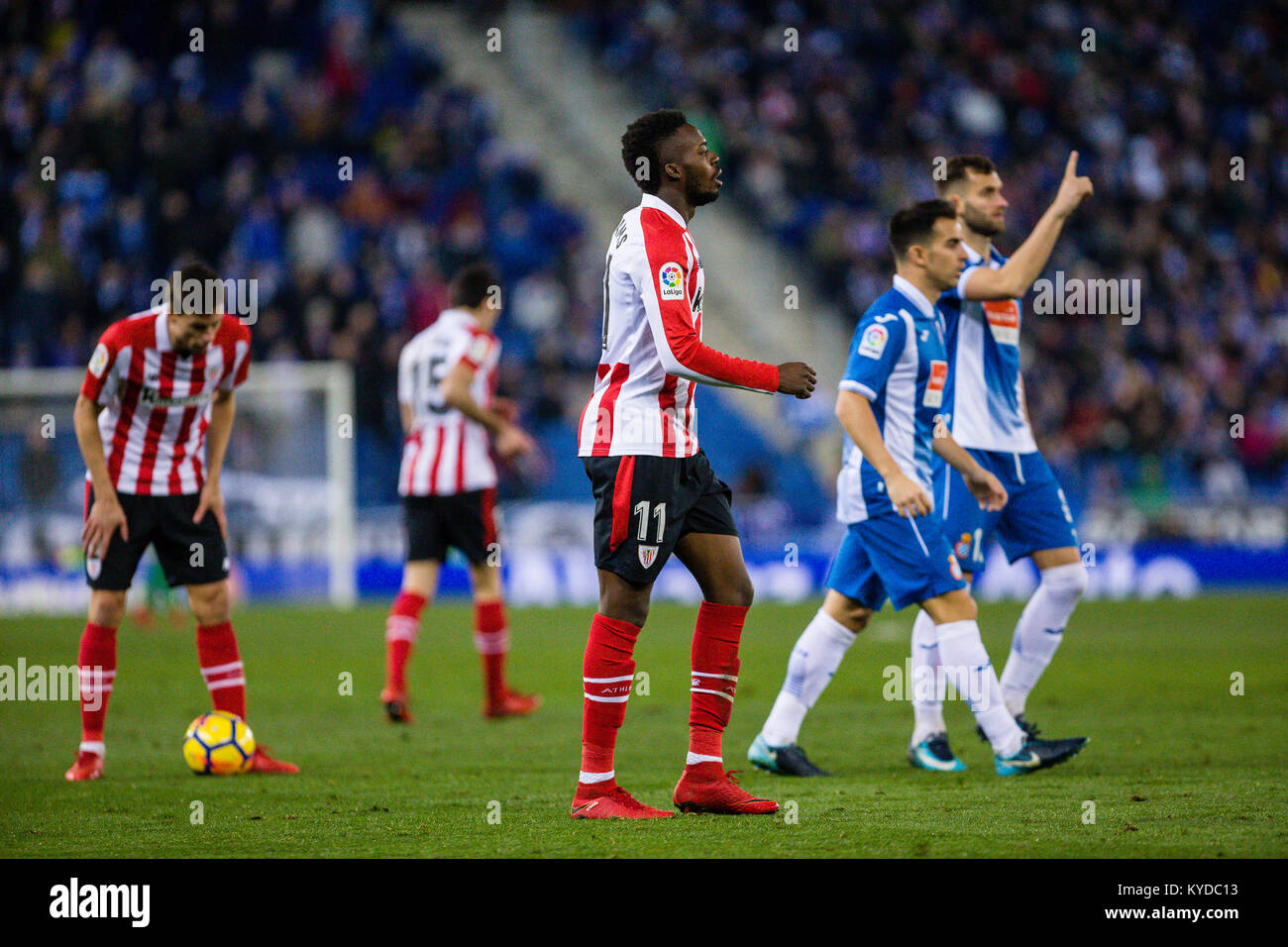 Athletic Club forward Inaki Williams (11) during the match between RCD Espanyol v Athletic Club, for the round 19 - Stock Image