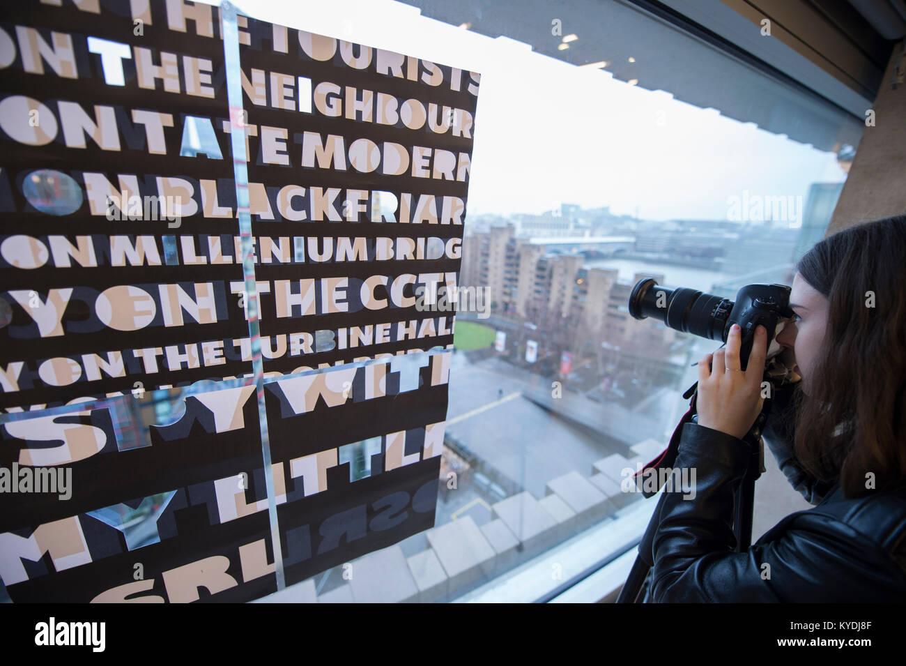 Tate Modern, London, UK  15th Jan, 2018  Photo: Caroline
