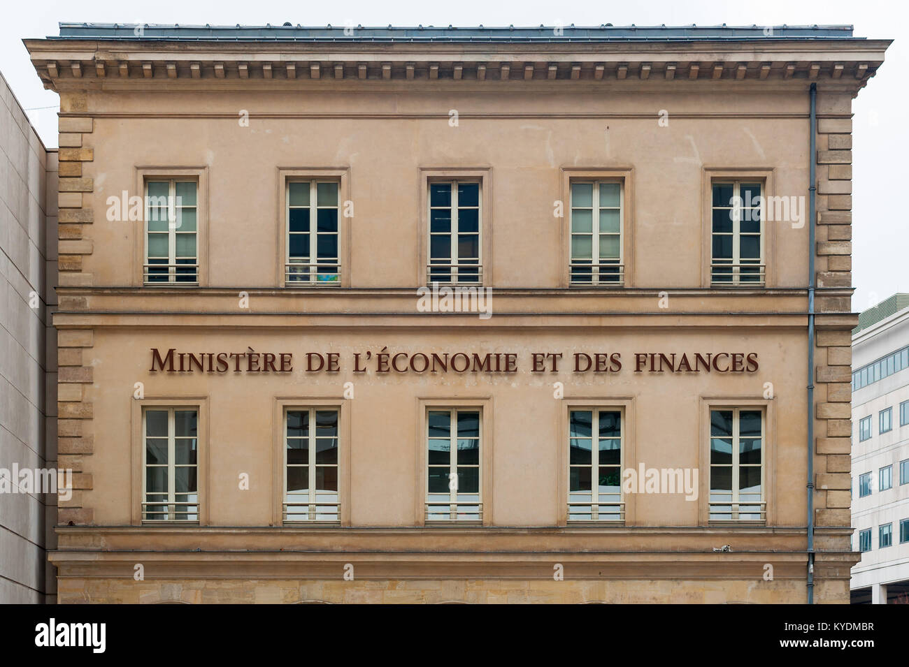 Bercy french ministry of finance entrance - Stock Image