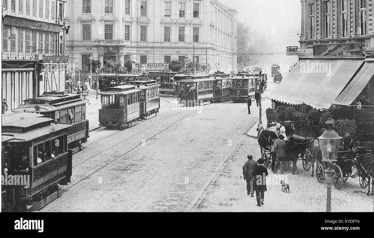 S 42, 1905, Spitalgasse - Währinger Straße Stock Photo