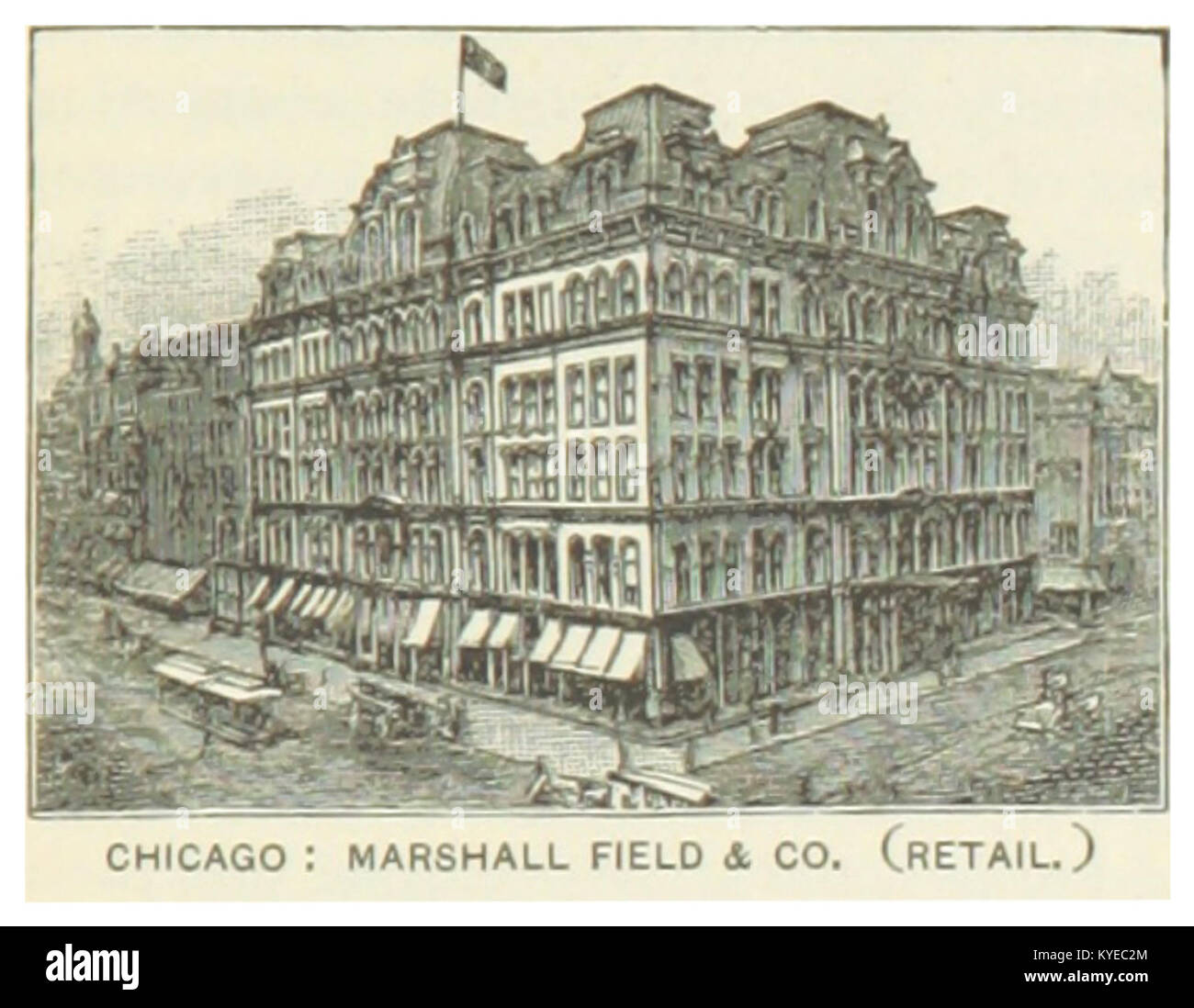 US-IL(1891) p229 CHICAGO, MARSHALL FIELD & COMPANY - RETAIL - Stock Image
