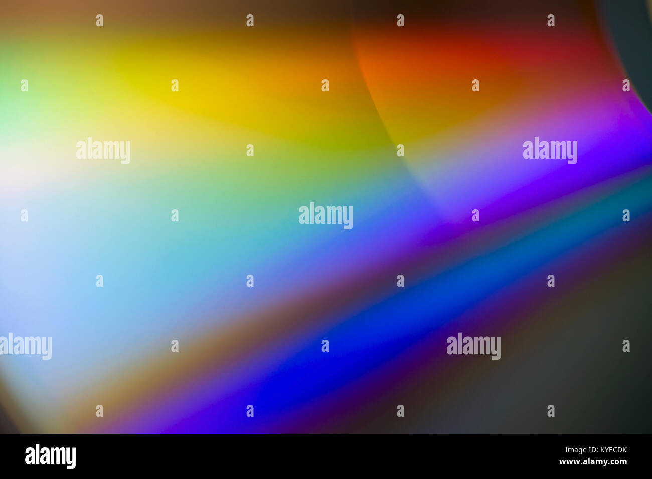 Colorful compact disk light reflection - Stock Image