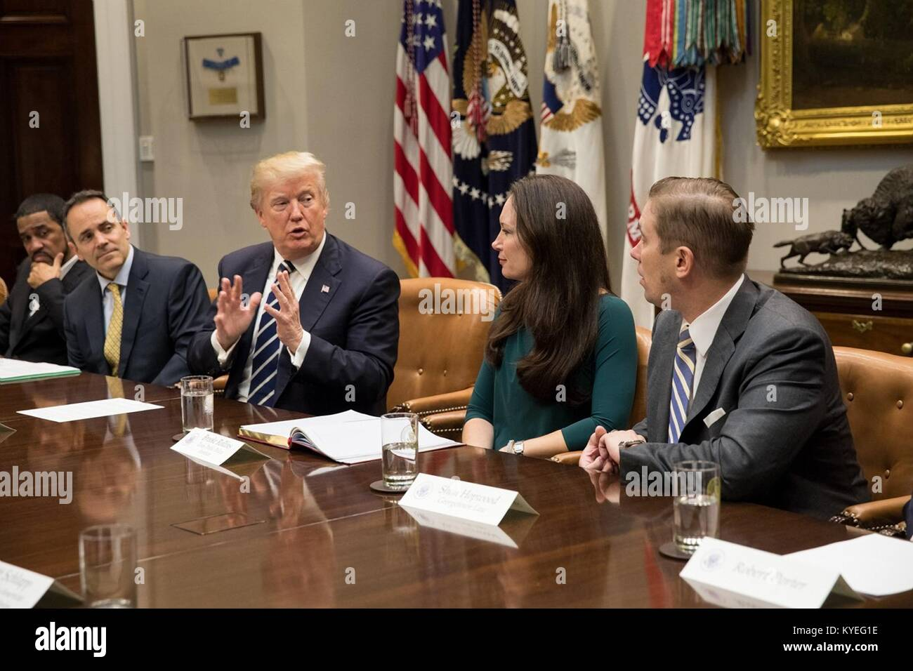 Trump Round Table.U S President Donald Trump Speaks During A Prison Reform Roundtable