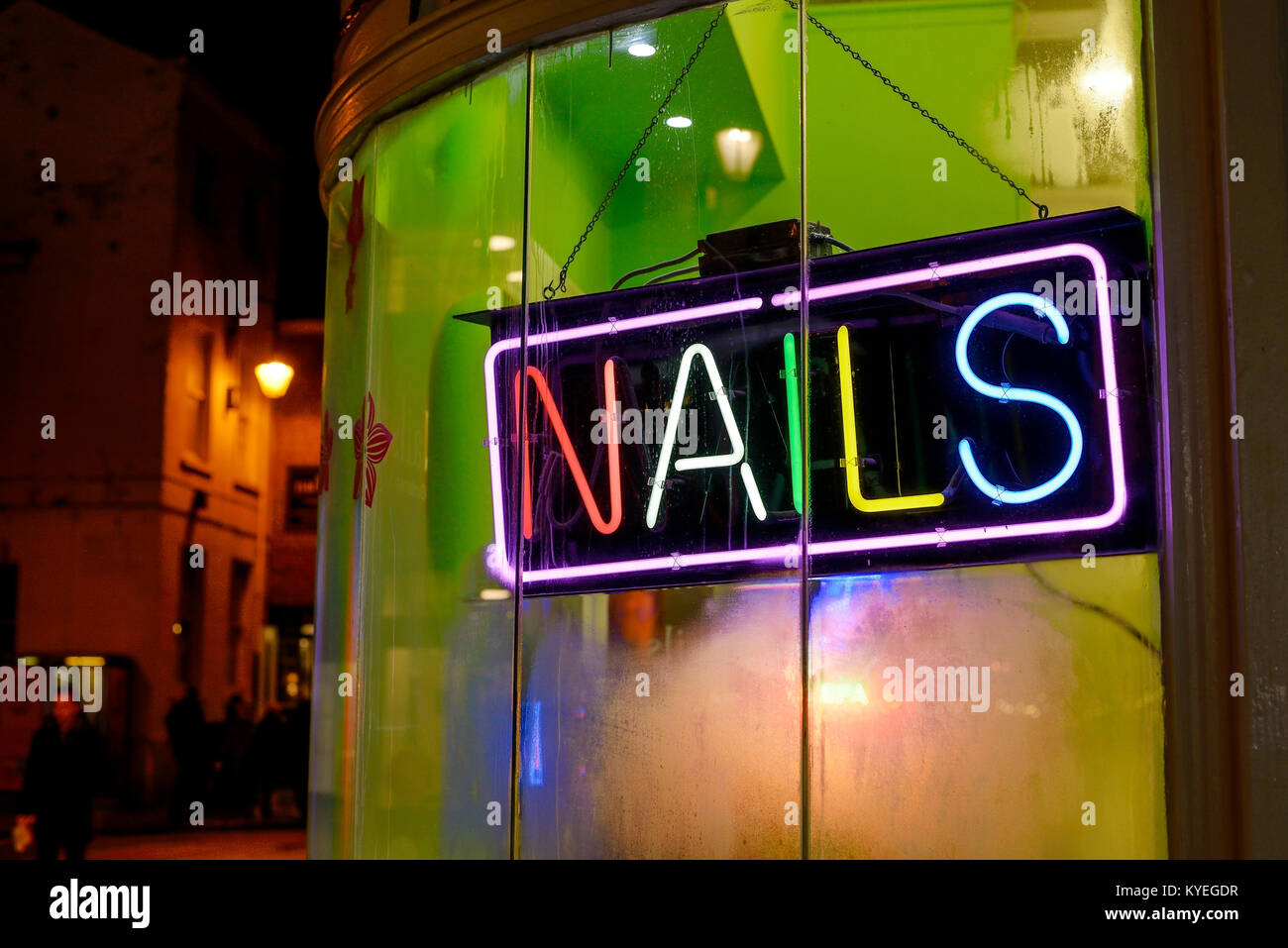 Neon Sign For A Nail Bar