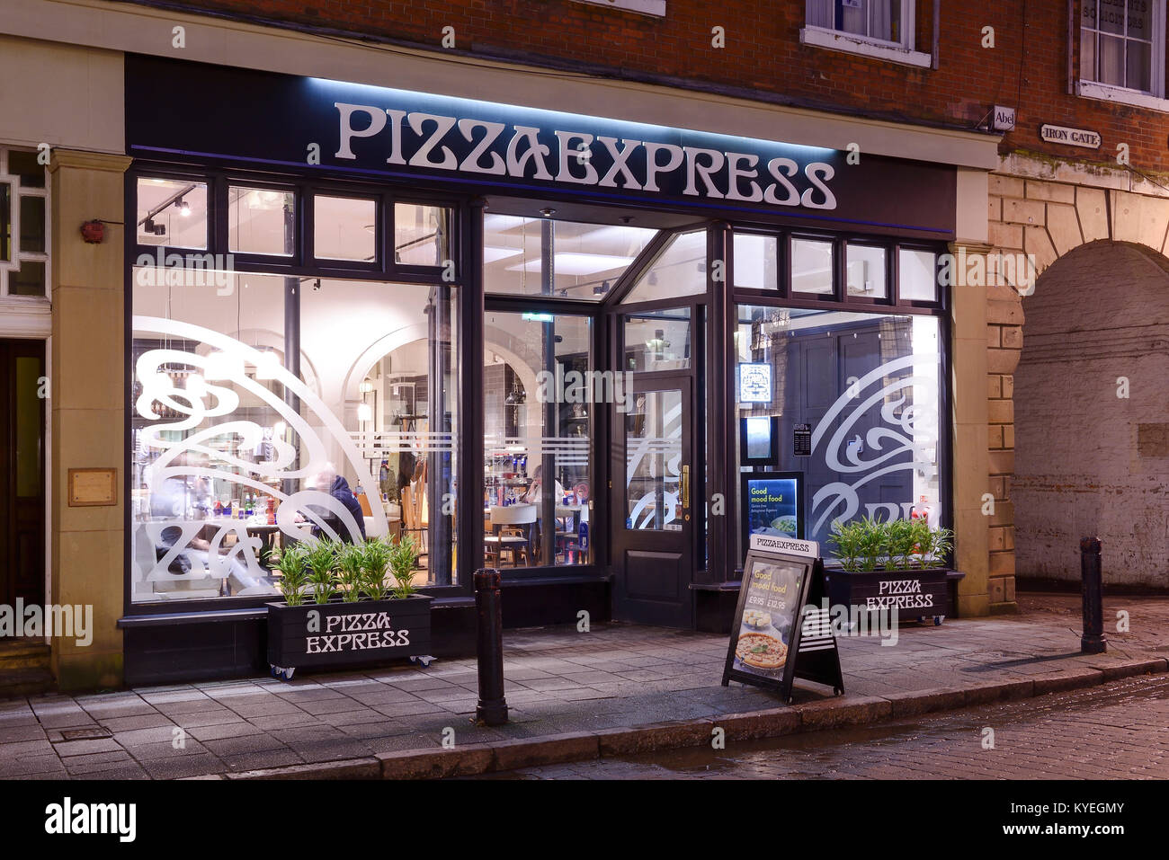 Pizza Express Restaurant On Iron Gate In Derby City Centre