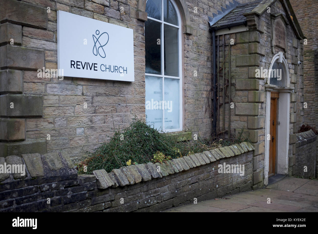 The Revive Church, High Street, New Mills, Derbyshire - Stock Image
