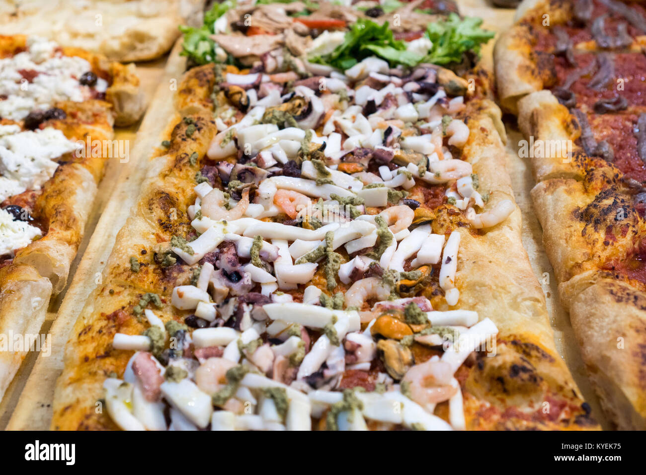 Tasty Italian pizza ready for eating - Stock Image