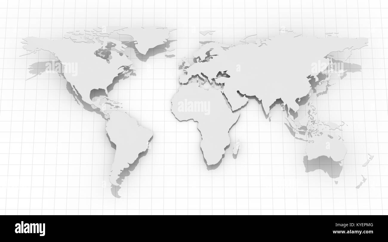 World map on grid background this is a 3d rendered computer stock world map on grid background this is a 3d rendered computer generated image isolated on white gumiabroncs Gallery