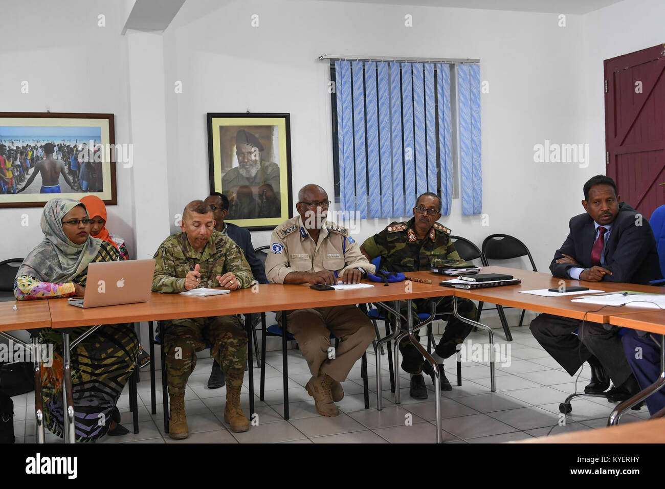 Fgs Security participants attend the closing session of joint amisom and