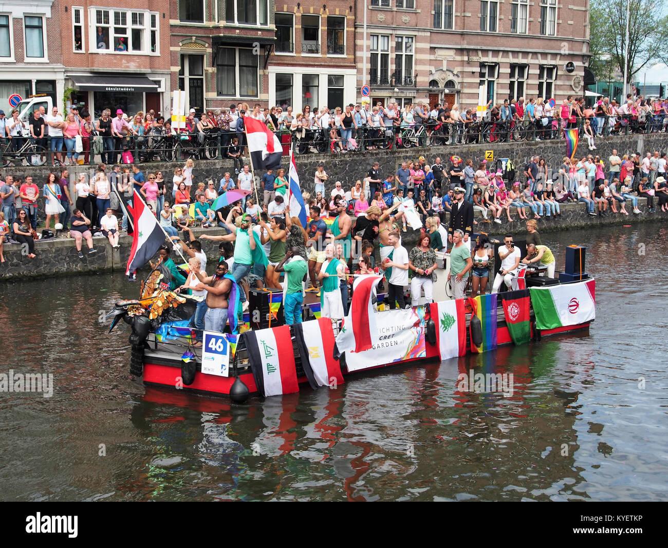Boat 46 Stichting Secret Garden Canal Parade Amsterdam 2017 Foto 1