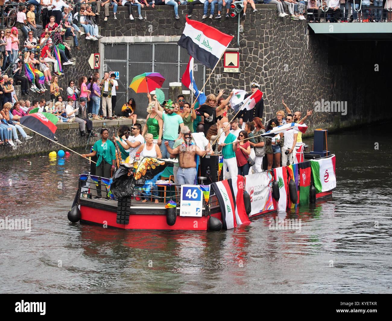 Boat 46 Stichting Secret Garden Canal Parade Amsterdam 2017 Foto 2