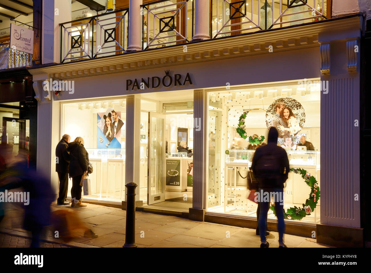 43067fdee Pandora jewellery shop front on Northgate Street in Chester city centre UK  - Stock Image
