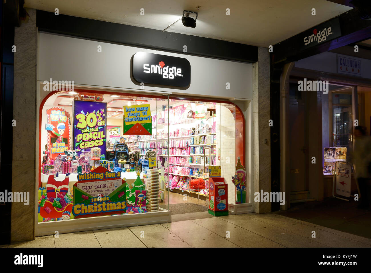 Smiggle shop front on Northgate Street in Chester city