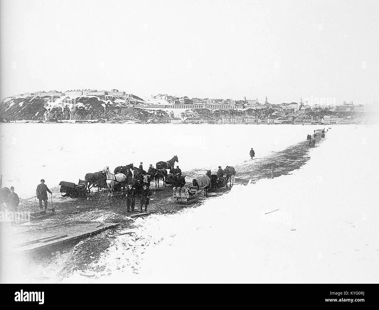 Pont de glace Québec-Lévis - Stock Image