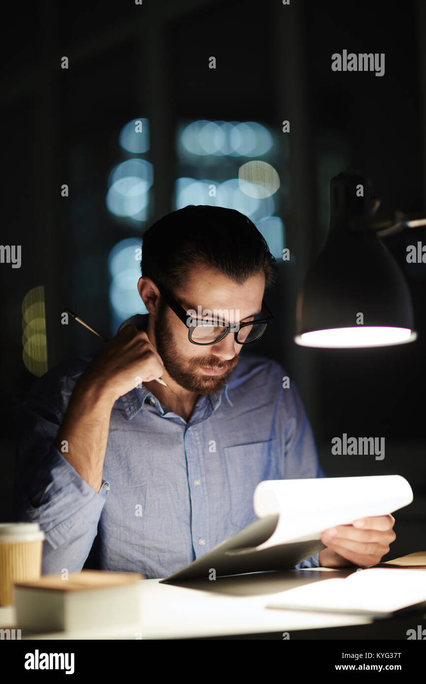 Work in the evening - Stock Image