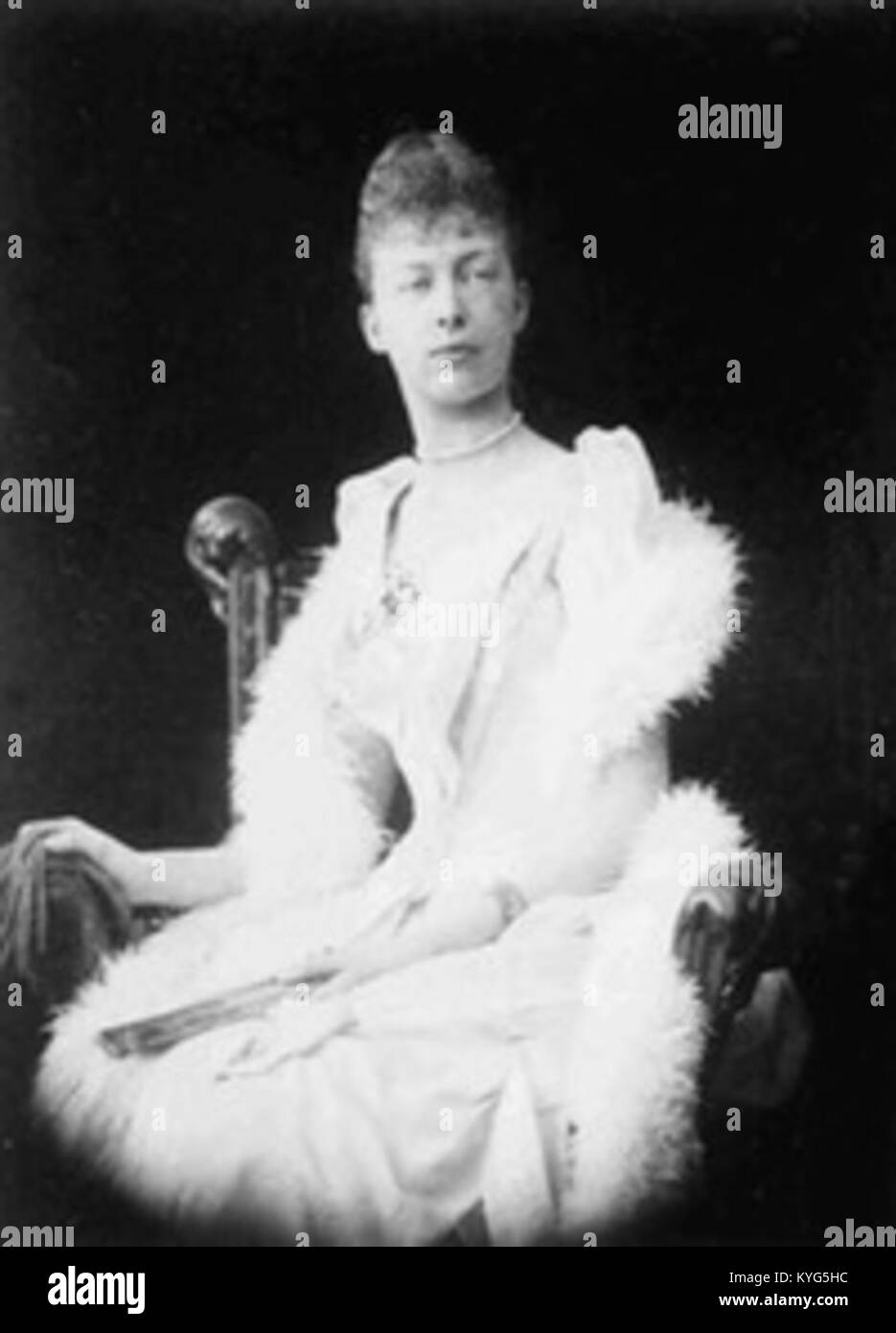 Presumed photograph of Princess Marguerite of Orléans (1869–1940) future Duchess of Magenta - Stock Image