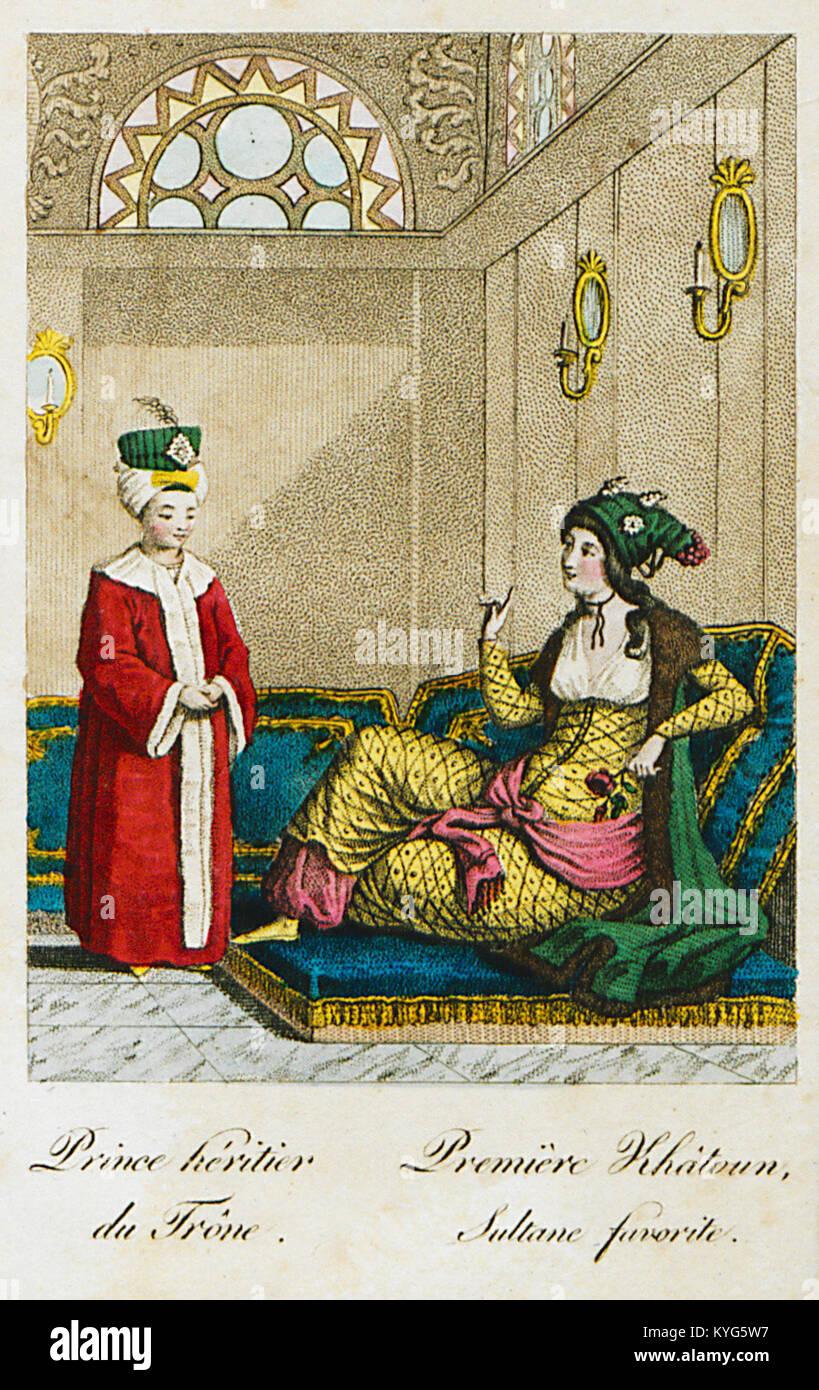 Prince héritier du Trône Première Khâtoun, Sultane favorite - Castellan Antoine-laurent - 1812 - Stock Image