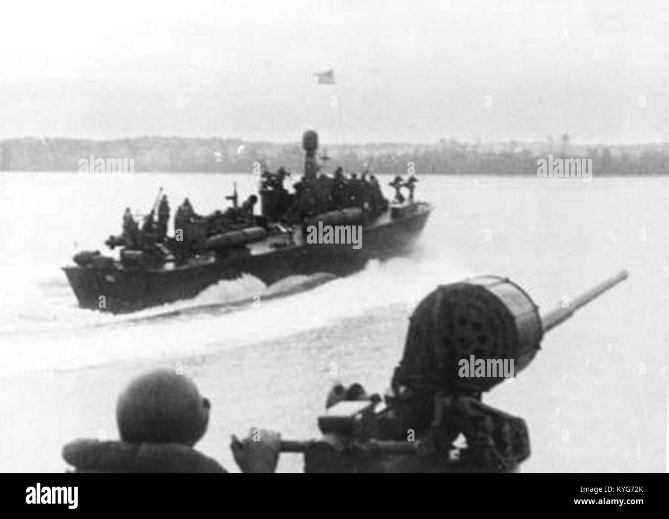 PT boats off Seria (Brunei) in 1945 - Stock Image
