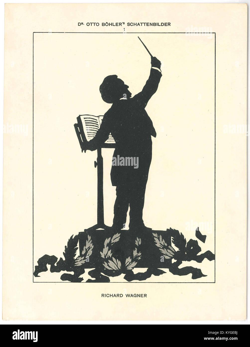 Brahms in heaven Bohler Silhouette Vintage Classical Music Poster