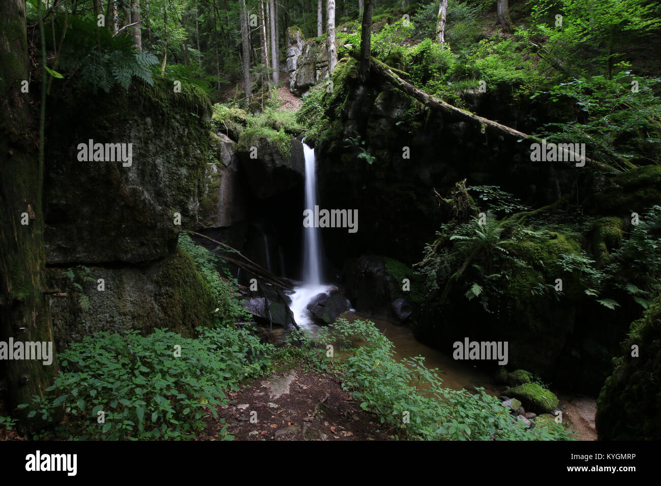 Waterfalls in Baden-Württemberg, Germany - Stock Image