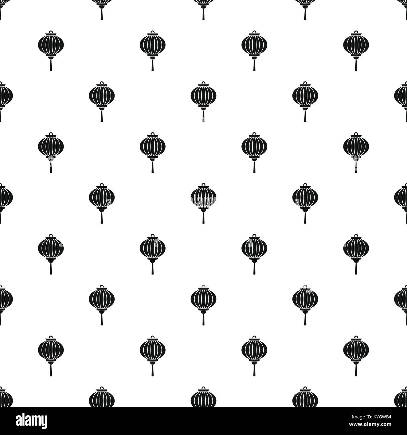 Red chinese lantern pattern vector - Stock Image