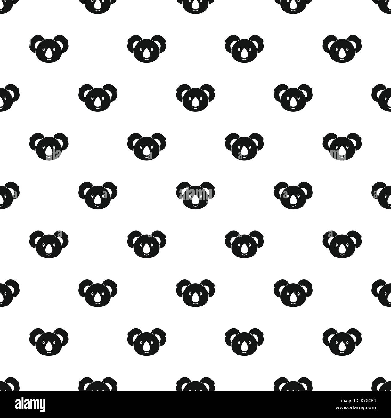 Koala pattern vector - Stock Image