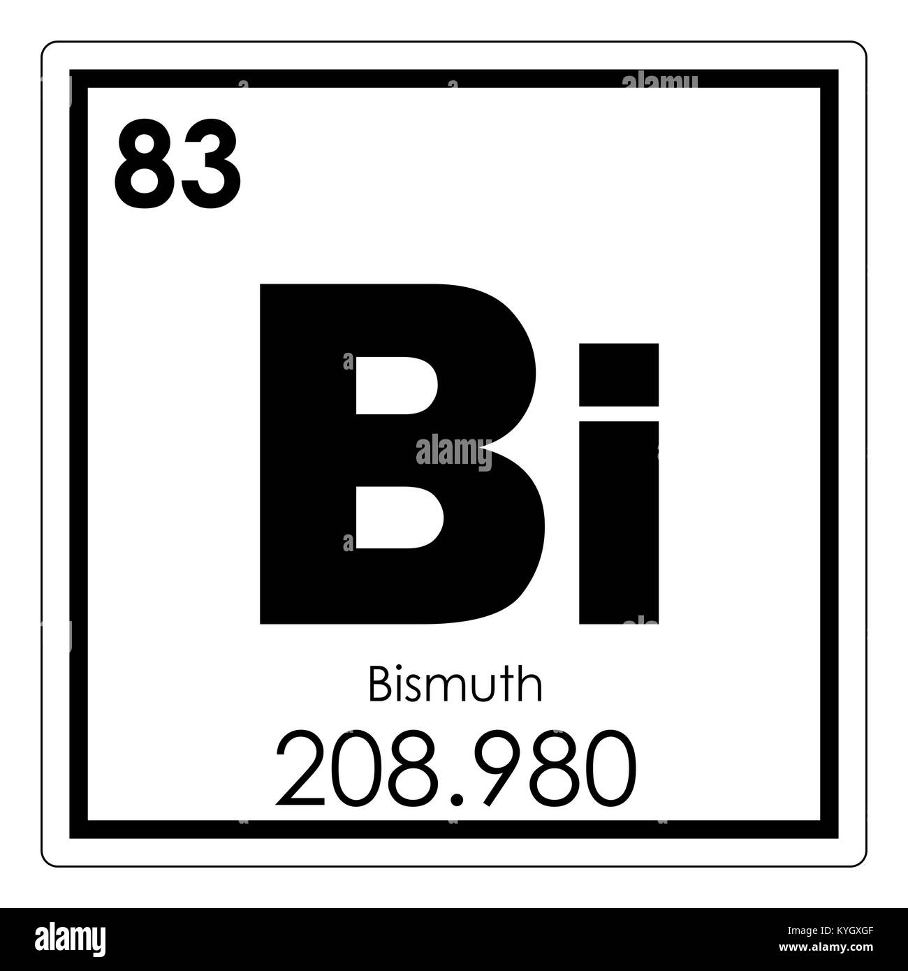 Bismuth Chemical Element Periodic Table Science Symbol Stock