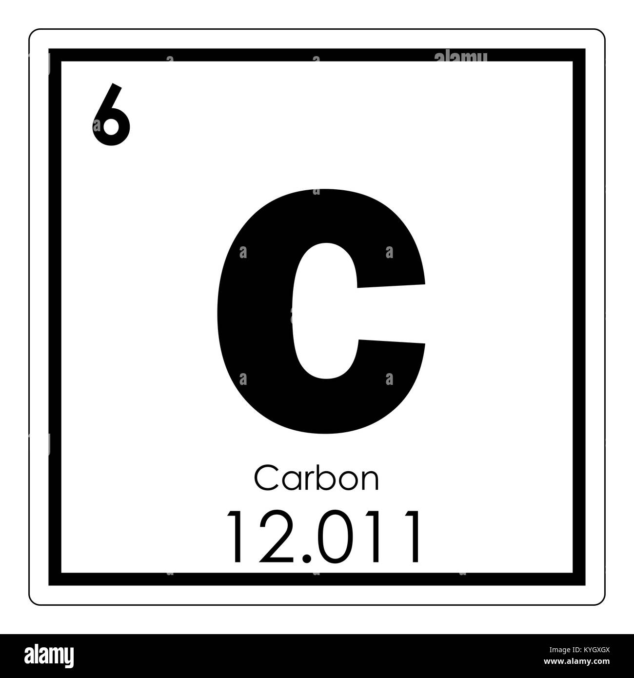Carbon chemical element periodic table science symbol stock photo carbon chemical element periodic table science symbol urtaz Gallery