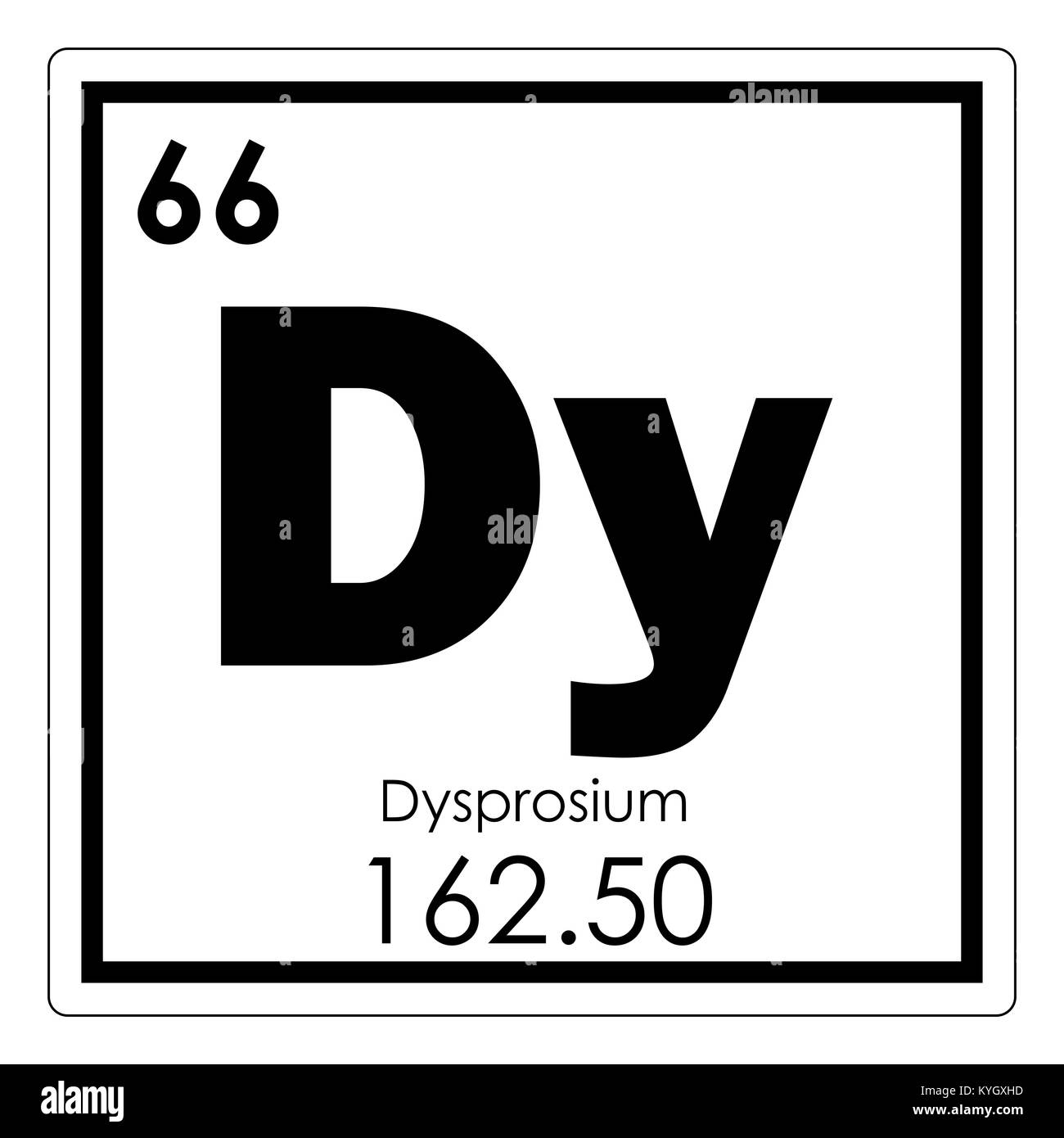 Dysprosium chemical element periodic table science symbol stock dysprosium chemical element periodic table science symbol urtaz Images