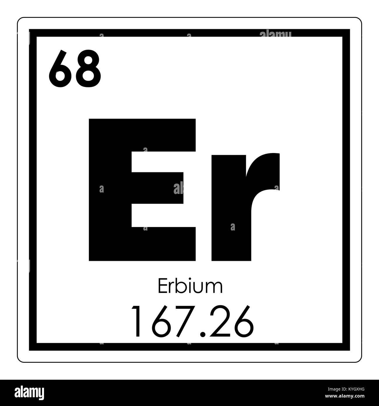 Erbium chemical element periodic table science symbol stock photo erbium chemical element periodic table science symbol urtaz Gallery