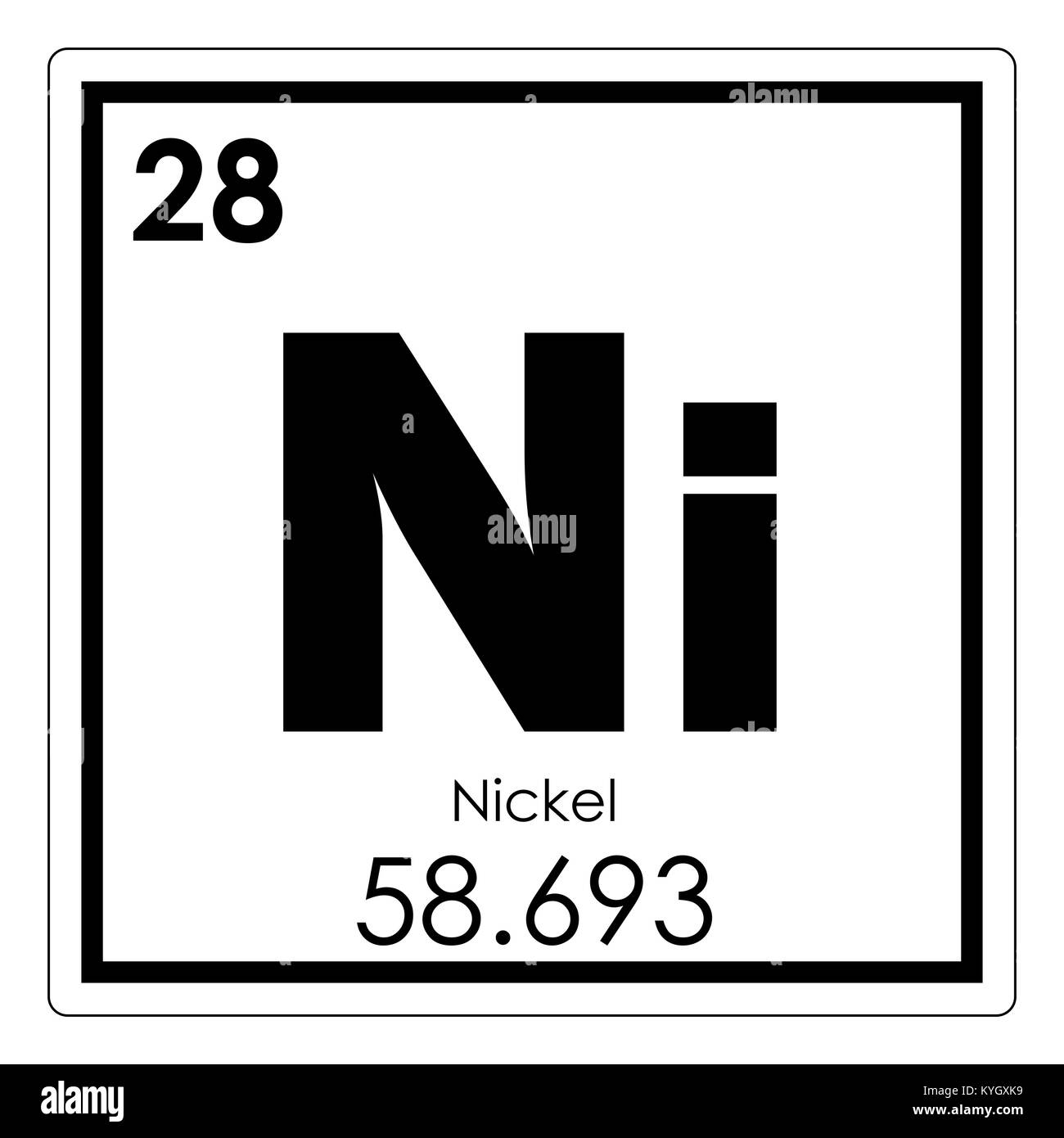 Nickel chemical element periodic table science symbol stock photo nickel chemical element periodic table science symbol urtaz Gallery