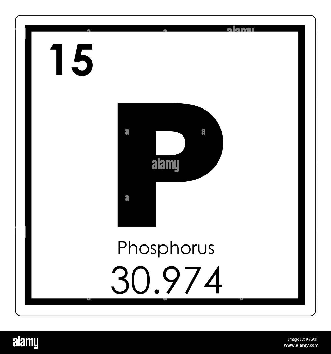 Phosphorus chemical element periodic table science symbol stock phosphorus chemical element periodic table science symbol urtaz Images