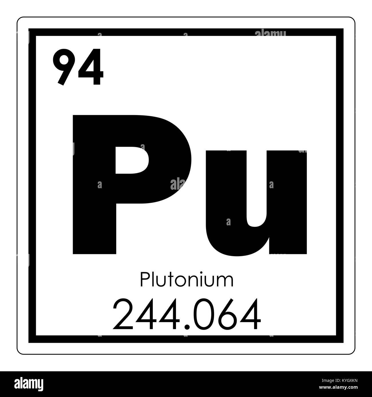 Plutonium Chemical Element Periodic Table Science Symbol Stock Photo