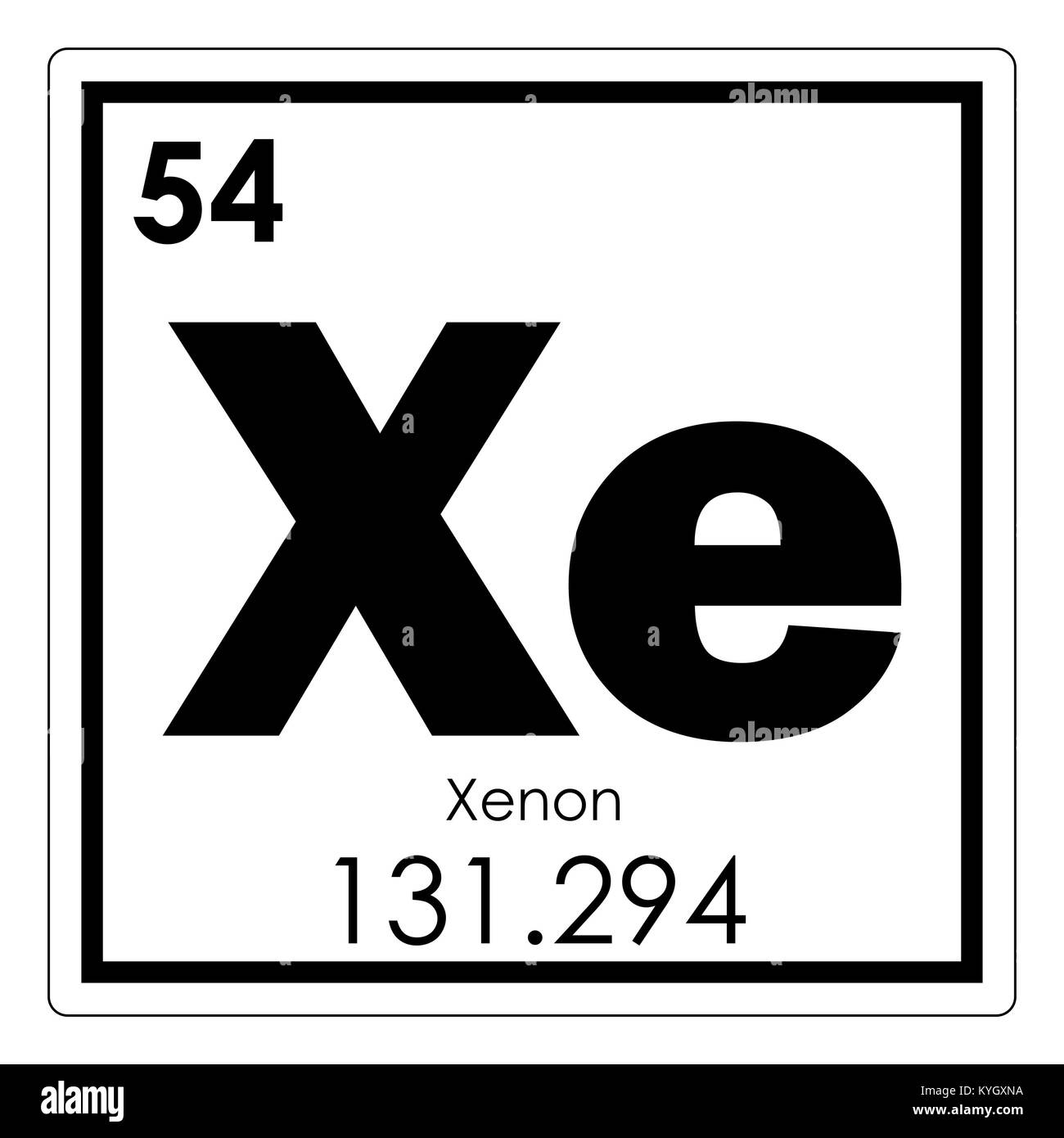 Xenon chemical element periodic table science symbol stock photo xenon chemical element periodic table science symbol urtaz Gallery