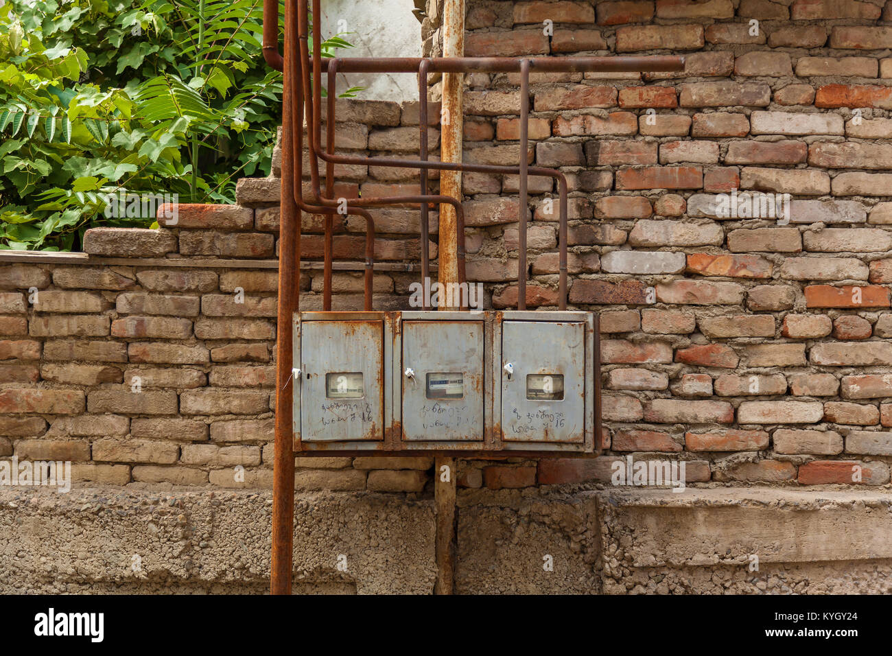 Electric meters. - Stock Image